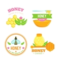 Honey badges Logo elements Bee design vector image