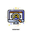 icon computer screen with person photo vector image vector image