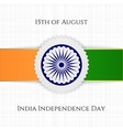 India Independence Day festive Label vector image vector image