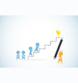 leader holding pencil to write ladder for team vector image vector image