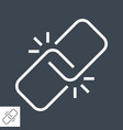 link thin line icon vector image