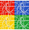 Metro scheme vector image vector image