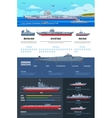 Military Fleet Infographics vector image vector image