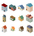 Modern trendy retro house street isometric design