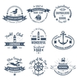 Nautical Marine Labels And Logos vector image