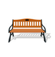 park wood benches and steel design isolated vector image vector image
