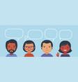 people communicate brainstorm teamwork cartoon vector image vector image