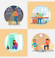 people with depression flat style vector image