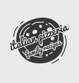 pizza label design typographic pizza festival or vector image vector image
