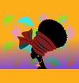 portrait beautiful african woman in turban vector image vector image