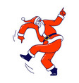 santa claus in red traditional costume dancing vector image vector image