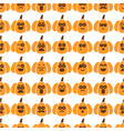 seamless pattern of pumpkins vector image vector image