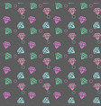 seamless pattern with colorful diamonds on vector image