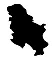 serbia - solid black silhouette map of country vector image vector image