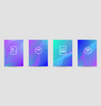set of banners with wave liquid texture vector image