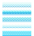 set of different style water waves vector image