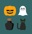 Set of icons for Halloween Symbol dreaded holiday vector image vector image