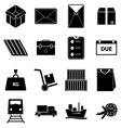 Shipping icons on white background vector image vector image
