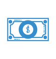 silhouette bill cash money and economy finance vector image vector image