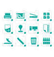 Stylized print industry icons