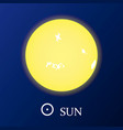 sun star icon in flat style vector image