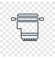 tallit concept linear icon isolated on vector image vector image