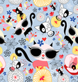 texture funny kittens vector image vector image