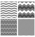 tile pattern set with white grey and black zig za vector image vector image