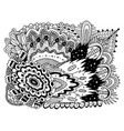 trippy doodle pattern for coloring book for adults vector image vector image