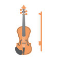 violin flat icon music and instrument vector image vector image