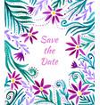 watercolor floral frame border pattern watercolor vector image vector image