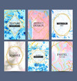 watercolor marble posters abstract pastel texture vector image