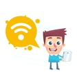 Wi fi available vector image vector image