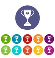 Winner cup set icons vector image vector image