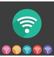 Wireless wifi flat icon vector image vector image
