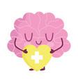 world mental health day cartoon brain character vector image vector image