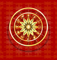 zodiac signs on a textured red background vector image vector image