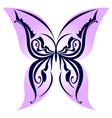 abstract butterfly on white background for design vector image