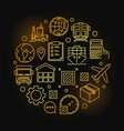 global logistics symbol vector image