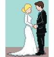pixel wedding background vector image