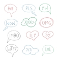 internet acronym chat vector image
