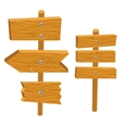 Wooden sign boards vector image