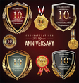 10 years anniversary labels