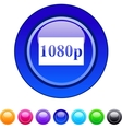1080p circle button vector image vector image