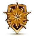 3d heraldic template with polygonal golden star vector image vector image