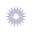 abstract circle swirl logo vector image vector image