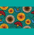 african wax print fabric ethnic handmade ornament vector image