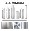 aluminium and product made from metal stuff vector image