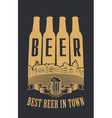 best beer in town vector image vector image