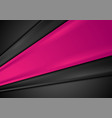 black and pink abstract stripes corporate vector image vector image